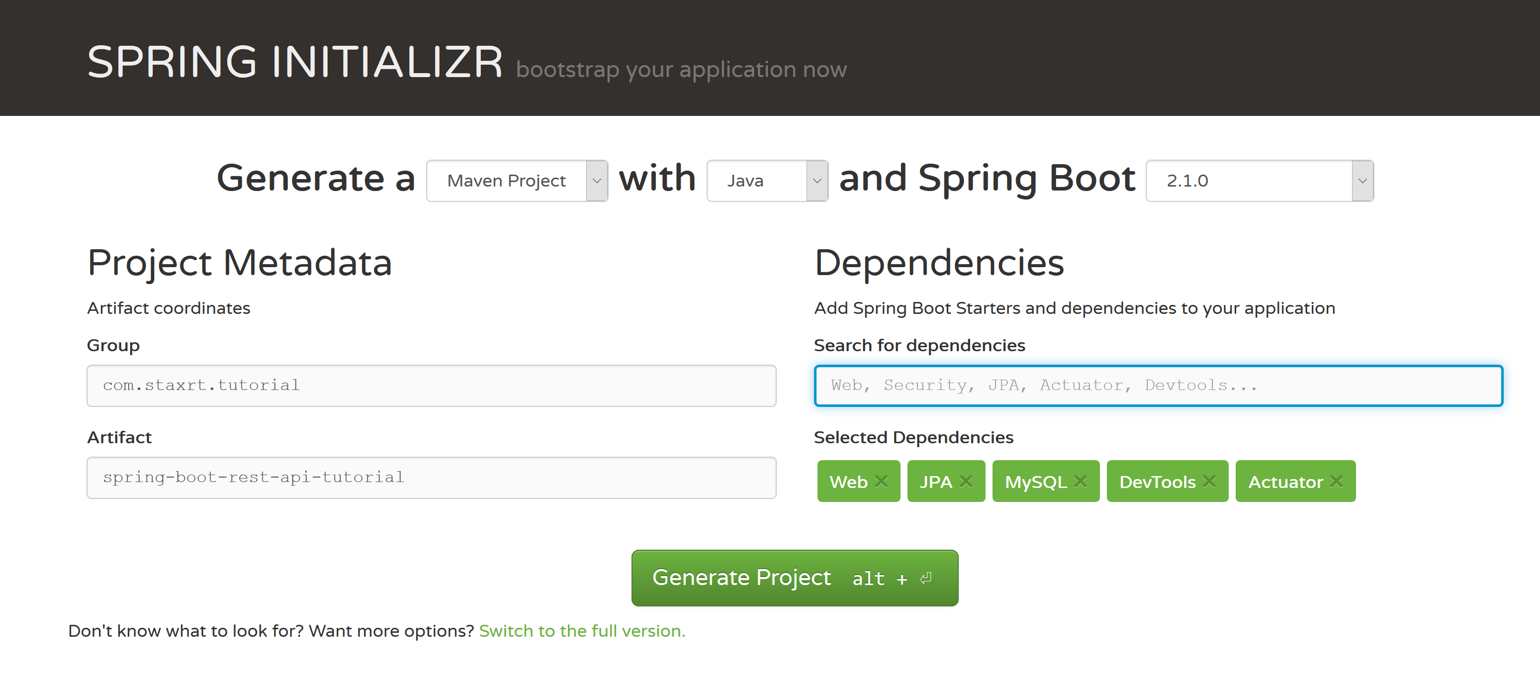 Create a REST API With Spring Boot